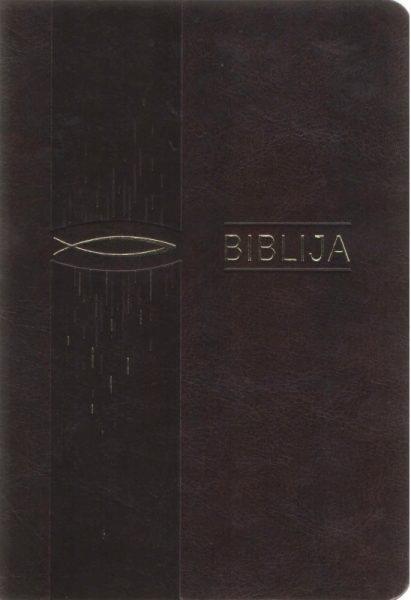 Biblija 12 x 17 cm, kanoninė 2018 m.
