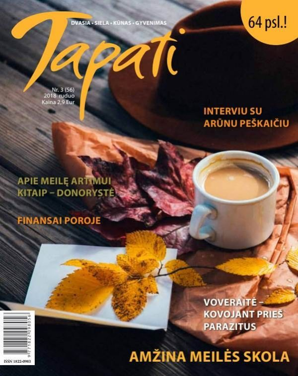TAPATI. Žurnalas moterims Nr. 3 (56) 2018 ruduo