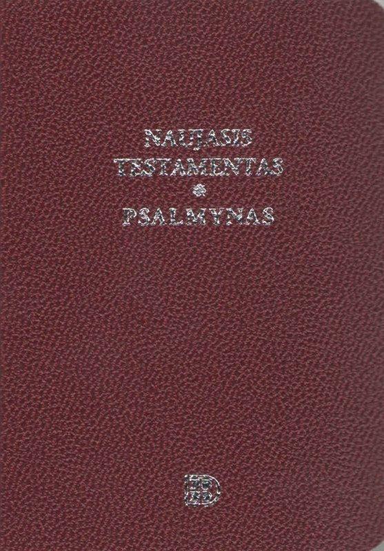 Naujasis Testamentas ir Psalmynas bordo (8 x 11,5 cm), kišeninis